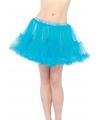 Korte turquoise petticoat voor dames