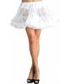 Korte witte petticoat voor dames