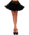 Korte zwarte petticoat voor dames