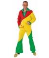 Kostuum rood geel groen voor volwassenen