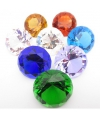 Kristallen diamant blauw 4 cm
