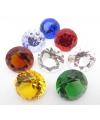 Kristallen diamant blauw 5 cm