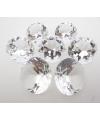 Kristallen diamanten transparant 8 cm