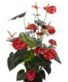 Kunst anthurium plant rood 80 cm