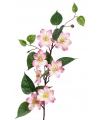 Kunst clematis roze op steel 80 cm