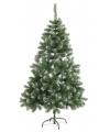 Kunst kerstboom abies 150 cm witte punten