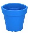 Kunststof bloempot blauw 13 cm