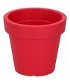 Kunststof bloempot rood 13 cm