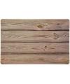 Kunststof placemat met hout look 43 x 28 cm