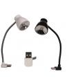 Lampje met usb aansluiting zwart 18 cm