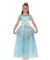 Lange blauwe prinsessenjurk