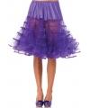 Lange paarse petticoat voor dames