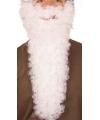 Lange witte gekrulde baard