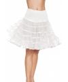 Lange witte petticoat voor dames