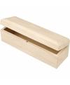 Langwerpige houten opbergdoosje 20 cm