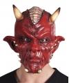 Latex duivel masker lucifer voor volwassenen