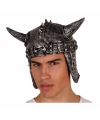 Latex helm met spikes en hoorns
