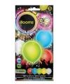 Led licht ballonnen gekleurd 23 cm 5 stuks