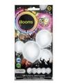 Led licht ballonnen wit 23 cm 5 stuks