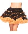 Leg avenue luxe petticoat zwart met oranje