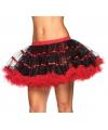 Leg avenue luxe petticoat zwart met rood