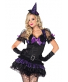 Leg avenue zwart paars heksen kostuum