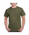 Legergroen katoenen shirt voor volwassenen