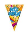 Lets party feest vlaggenlijntjes