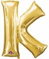 Letter k ballon goud 86 cm