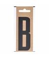 Letter sticker b zwart 10 cm