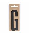 Letter sticker g zwart 10 cm