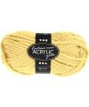 Licht geel acryl wol 50 gram