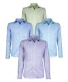 Lichtblauw heren overhemd met lange mouwen