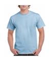 Lichtblauw katoenen shirt voor volwassenen