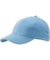 Lichtblauwe baseball cap