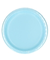 Lichtblauwe borden 8 stuks