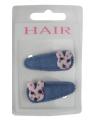 Lichtblauwe haarspeldjes met konijntje