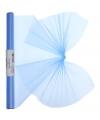 Lichtblauwe organza stof op rol 40 x 200 cm