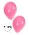 Lichtroze ballonnen 100 stuks