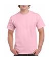 Lichtroze katoenen shirt voor volwassenen