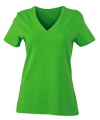 Lime dames stretch t shirt met v hals