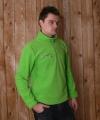 Lime fleece trui voor volwassenen