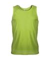 Lime groen sport singlet voor heren