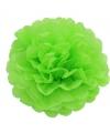 Lime groene decoratie pompom 25 cm