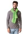 Lime groene fleece sjaal