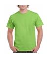 Limegroen katoenen shirt voor volwassenen
