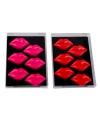 Lippen magneten 6 stuks