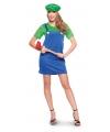 Loodgieter jurkje groen voor dames