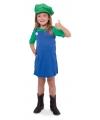 Loodgieter jurkje groen voor meisjes