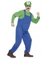 Loodgieter kostuum groen voor heren
